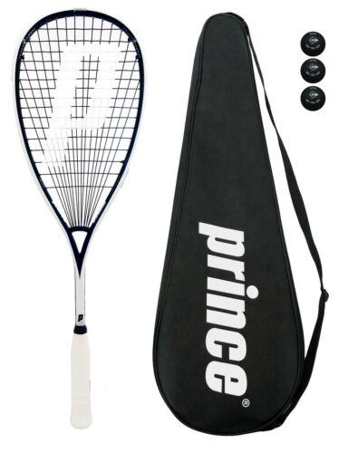 Prince Pro Sovereign 650 Squash Racket + 3 Squash Balls + Cover RRP £170