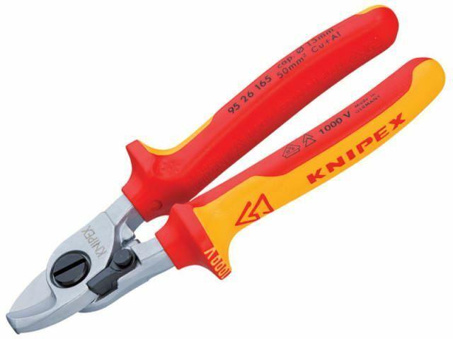 Knipex - Tijeras de cable VDE con resorte de retorno 165 mm