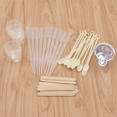 DIY Resin Casting Molds Kit Jewelry Making Tool Dropper// Stirring Spoons //Cups