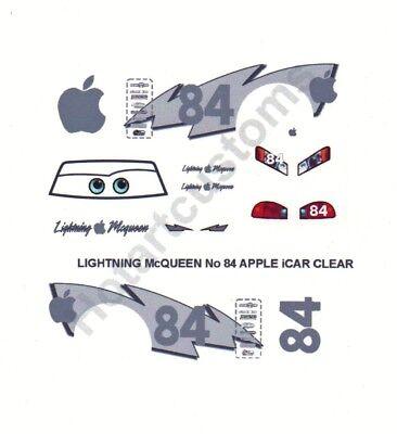 FOR DISNEY CARS CUSTOM LIGHTNING McQUEEN APPLE iCAR DECAL SET