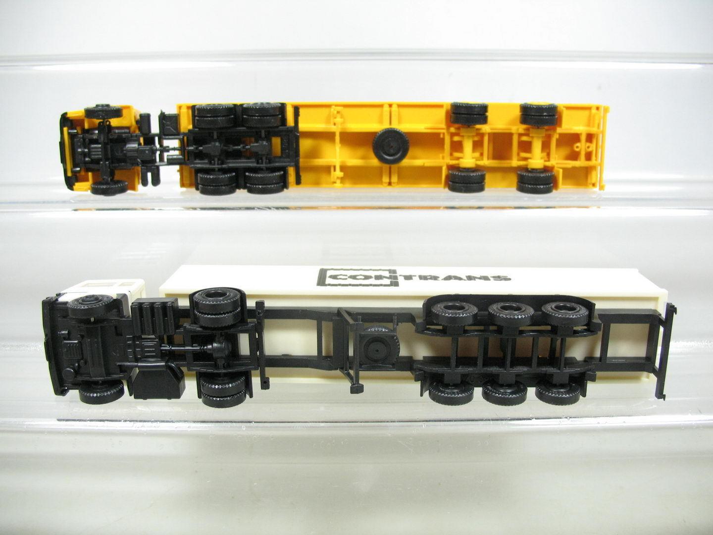 Af290-0, 5  2x herpa herpa herpa H0 Camión   semirremolque  FORD contrans + IVECO 5a1f6e