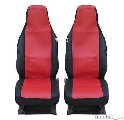 2x vordere Auto Sitzbezüge Sport Schonbezüge Rot für Honda Hyundai Mazda Opel