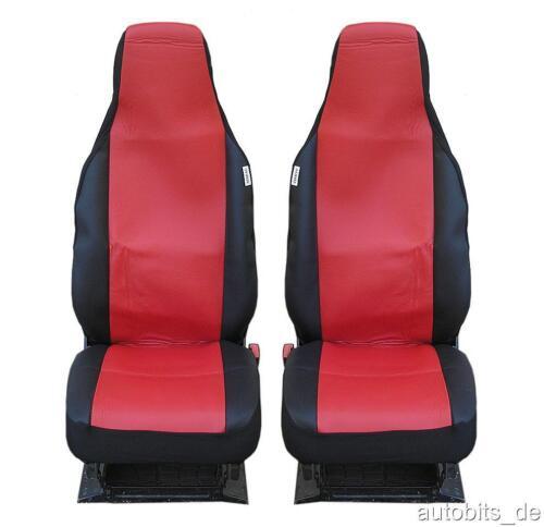 2 Auto Sitzbezüge Schonbezüge Schonbezug Einteilig Rot Hochwertig Neu OVP