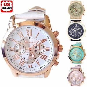 Women-Fashion-Geneva-Roman-Numerals-Faux-Leather-Band-Analog-Quartz-Wrist-Watch