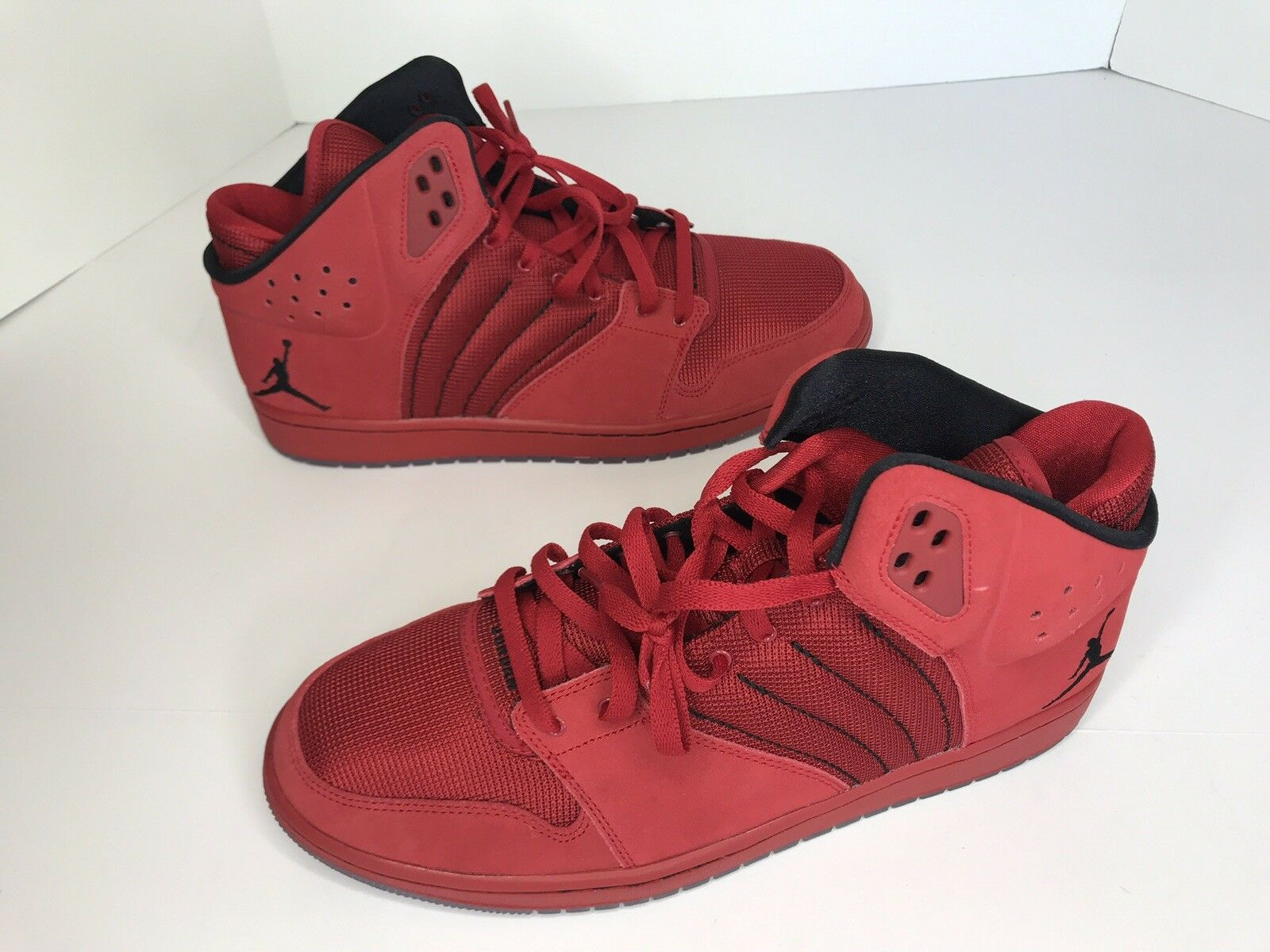 NIKE Jordan 1 Flight 4 Men Basketball shoes Size 13 Red Black 838818 600