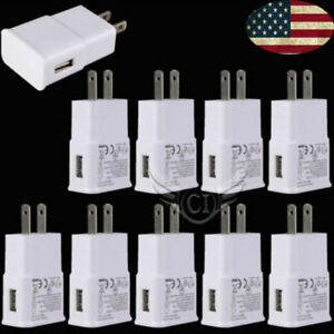 Lot-10X-USB-Adapter-AC-Home-Samsung-Wall-Chargers-US-Plug-Android-All-Micro-Port