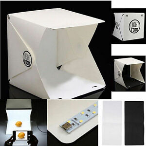 Faltbar-Foto-Light-Tent-Lichtzelt-Raum-Hintergrund-Wuerfel-Fotografie-Mini-Box