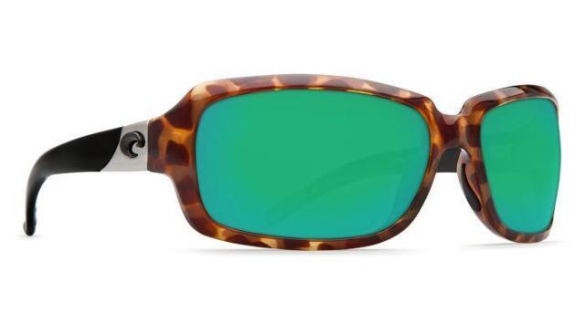 c6259c4709 Costa del Mar Isabela Polarized Sunglasses Ret Tortoise Green Mirror 580G  Glass