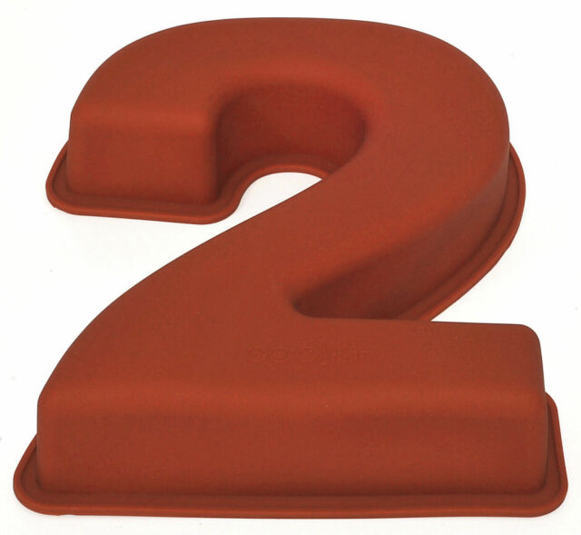 Nr 2 X Numbers Shaped Silicone Birthday Cake Mould Kids Baking Tray