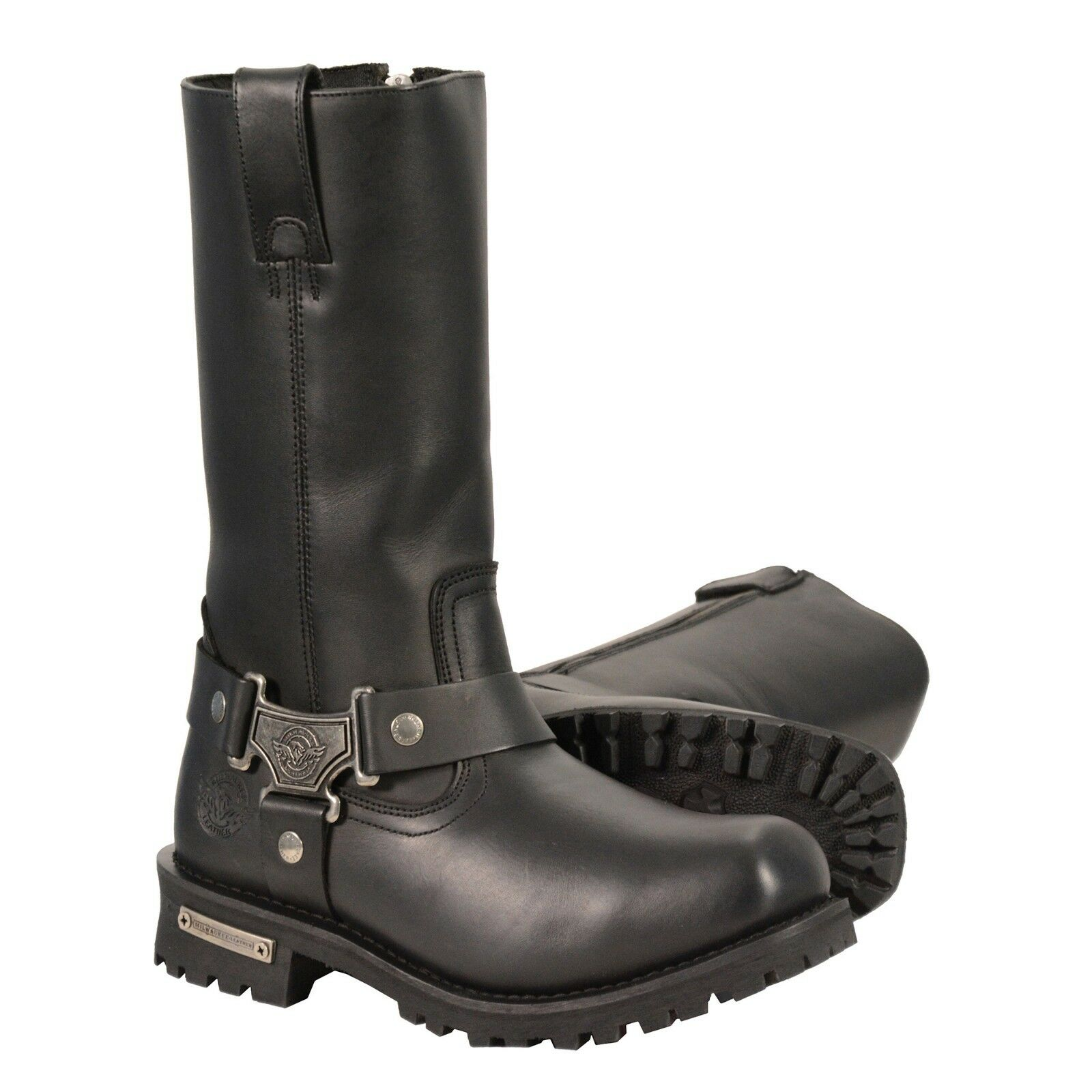 Milwaukee Leather Men's 11-Inch Waterproof Harness Square Toe Boot MBM9061WP