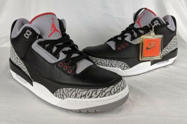 best loved dafe8 28579 Nike Air Jordan 3 III Retro OG Black Cement Red White AJ854262-001 Size 10