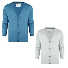 Jack /& Jones Mens Plain Button Up Knitted Cardigan Long Sleeve Casual Tops