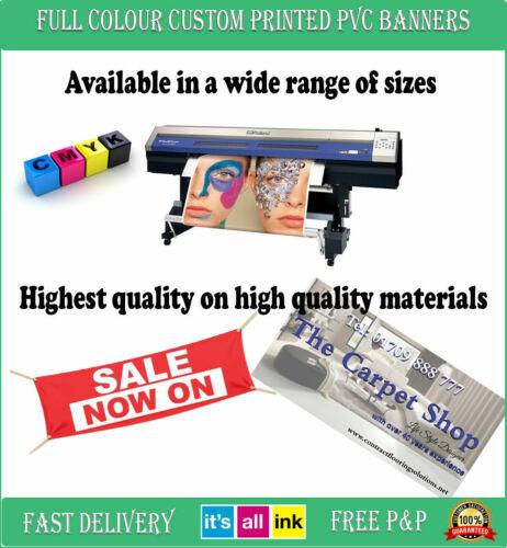 CUSTOM BIRTHDAY FREE DESIGN INDOOR OUTDOOR BANNERS PERSONALISED PVC BANNER