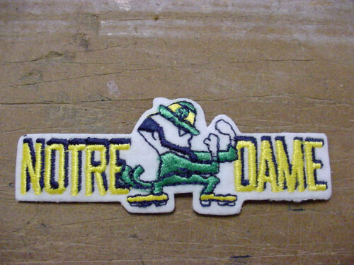 lot 4 VINTAGE  NCAA FIGHTING IRISH EMBROIDERED IRON ON Patch 80/'S