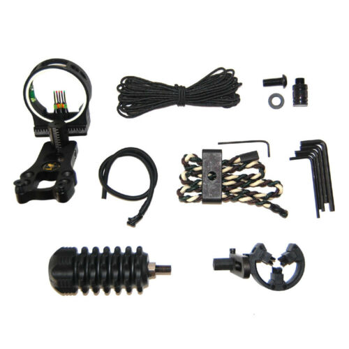 Compound Bow 5 Pins Bow Sight Vibration Dampening Stabilizer Bow Accessories Kit