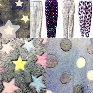 New-Womens-Girls-Pyjama-Soft-Plush-Lounge-Sleep-Pajama-Pants-Fleece-Sleepwear