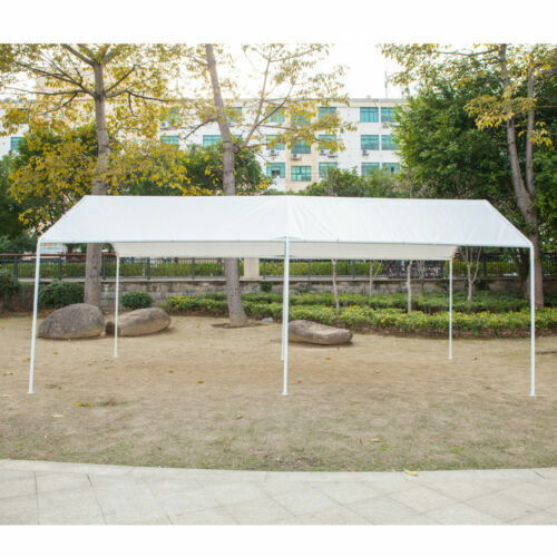 White Heavy Duty Canopy Tent 10x20 FT Steel Carport ...