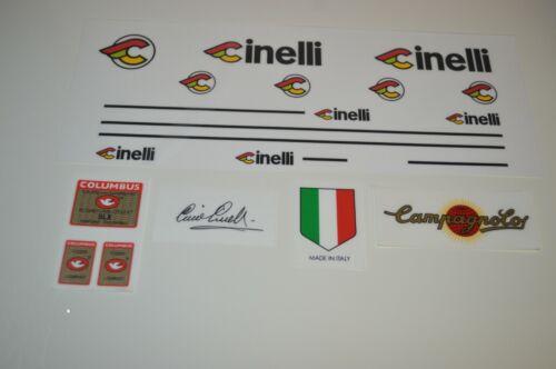CINELLI Super Corsa Decals Signature of Cino Cinelli is included Stickers