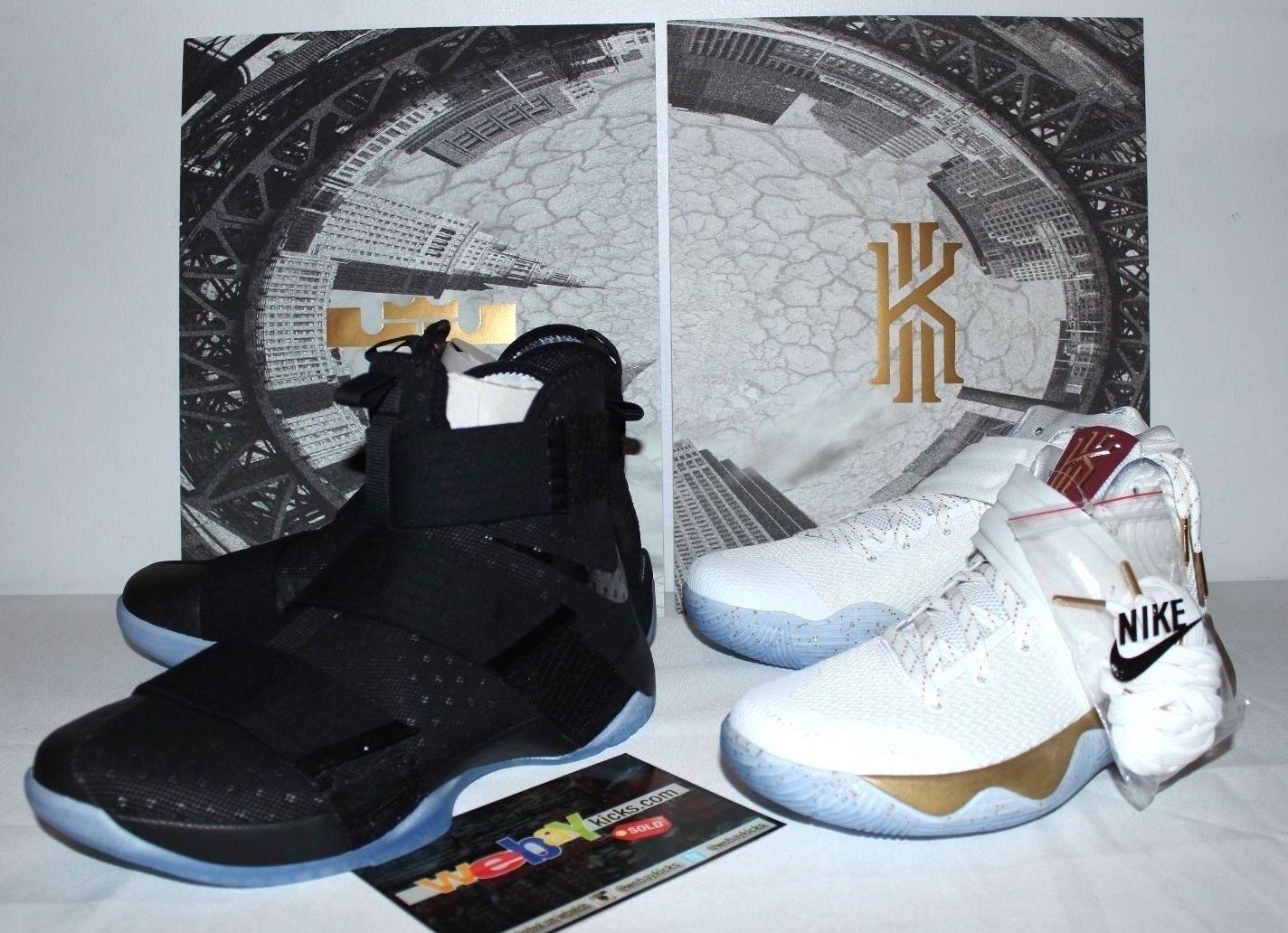 Nike air lebron x 10 kyrie 2 partita 3 dell'oro nero scarpe Uomo dimensioni