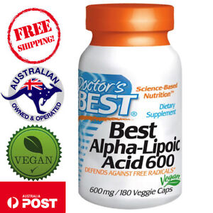 Doctor-039-s-Best-Alpha-Lipoic-Acid-600-mg-60-180-Vegan-Caps-blood-glucose-control