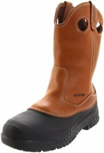 Wolverine-Men-039-s-Swampmonster-Rival-Wellington-Waterproof-Work-Boots-Tan