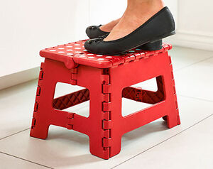 Folding Step Stool Easy Storage Home Kitchen Garage