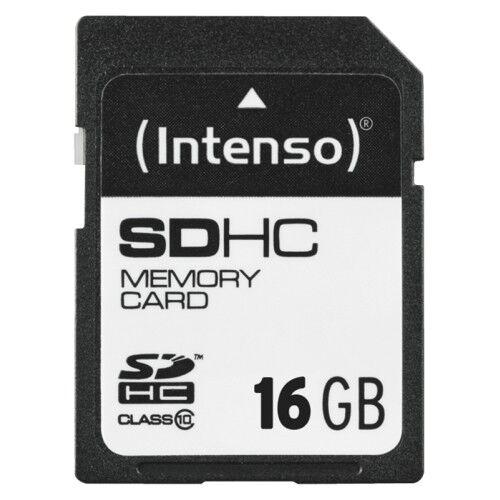INTENSO Carte SD 16 Go Class 10 Carte Mémoire 20 MB/Seconde Vitesse de lecture