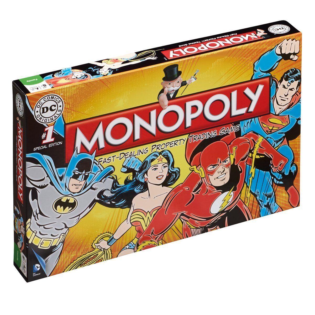 Dc Comics Retro Monopoly Juego de Mesa  Nuevo Precintado Bathomme Superhomme  sortie de vente pas cher en ligne