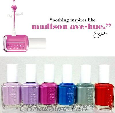 ESSIE Nail Lacquer- Madison ave-hue- -Spring 2013- All 6 Shades 821-826
