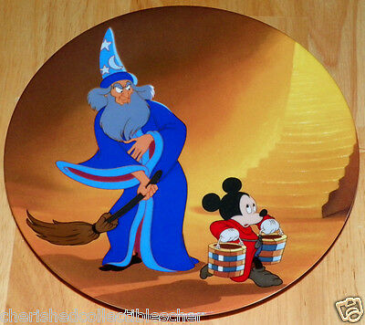 Disney Collector Plate Fantasia Series An Apprentice Again COA