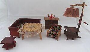 Vintage möbel wohnzimmer  Art Deco Wohnzimmer Puppenstube ~ 40er Jahre Puppenhaus Möbel ...
