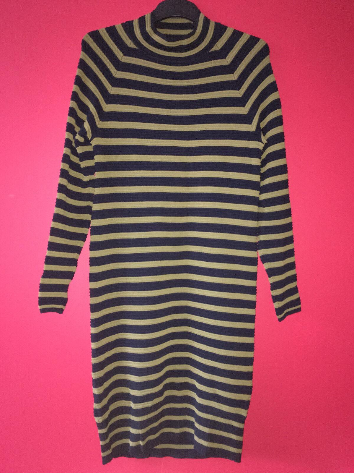 Next Nautical Stripe Knitted Stretch Long Sleeve Tunic Jumper Dress Size 14 BNWT