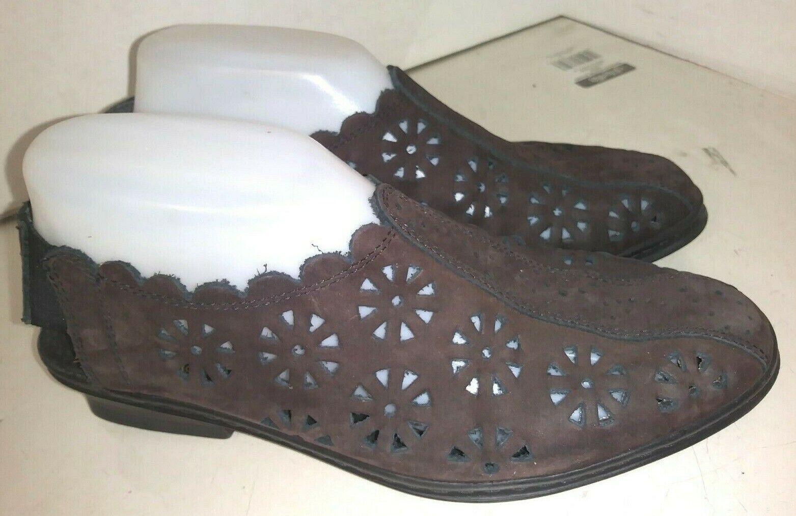 Rieker Dark Brown Nubuck Sandals Slingback Slide on Womens Size 40