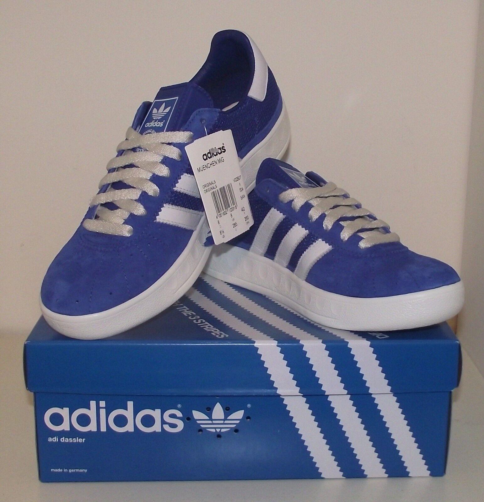 Nuevo Y En Caja Especial Adidas Munchen combinación de Colors y caja OG Hecho en Alemania DEADSTOCK UK 8 Eu42