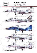 Hungarian Aero Decals 1/72 MIKOYAN MiG-29B/UB FULCRUM Soviet Jet Fighter