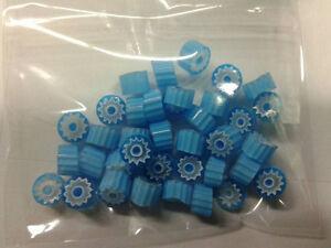 10 grammi murrine in foto di murano glass millefiori  celesti  misura 6-7 mm