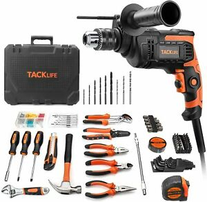 145-piece Home Tool Kit Hammer Drill 6.5Amp Power Tools Kit with Portable Case M