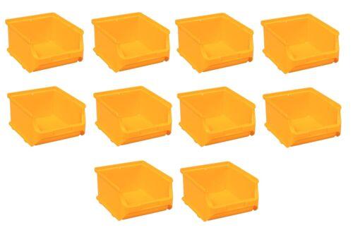 10x contenitore impilabile cesto gr2b batch Box Scatole Magazzino Magazzino SCATOLA PROFI PLUS GIALLO Allit 456242