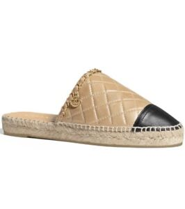 3dccb6465 Image is loading Chanel-Metallic-Open-Back-Espadrilles