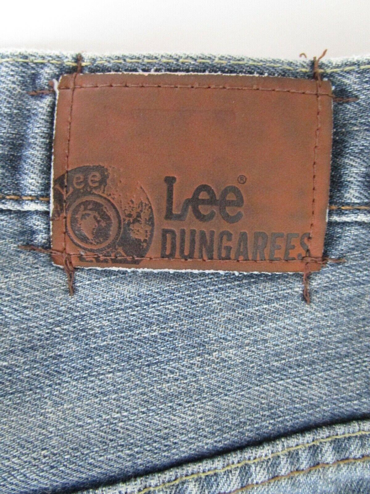 Lee Dungarees Men Size 31X32 Retro Y2K Blue Relax… - image 10