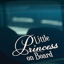 LITTLE PRINCESS ON BOARD Funny Novelty Car,Bumper,Window Vinyl Decal Sticker
