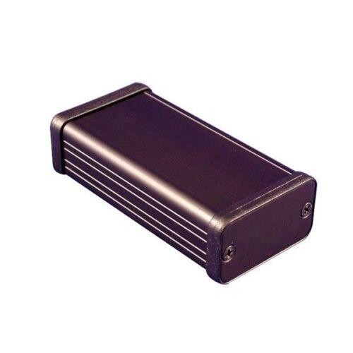 Hammond 1455D801BK alloggiamento in alluminio estruso 80 x 45 x 25mm Nero