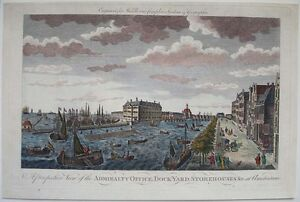 1780s-ENGRAVING-AMSTERDAM-HOLLAND-ADMIRALTY-OFFICE-DOCK-YARD-SHIPS-amp-BUILDINGS