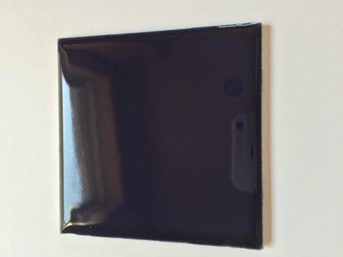 Z-722 1 Pc Vtg Ceramic Tile Wall Floor American Olean Dark Navy 4 1//4 Glossy