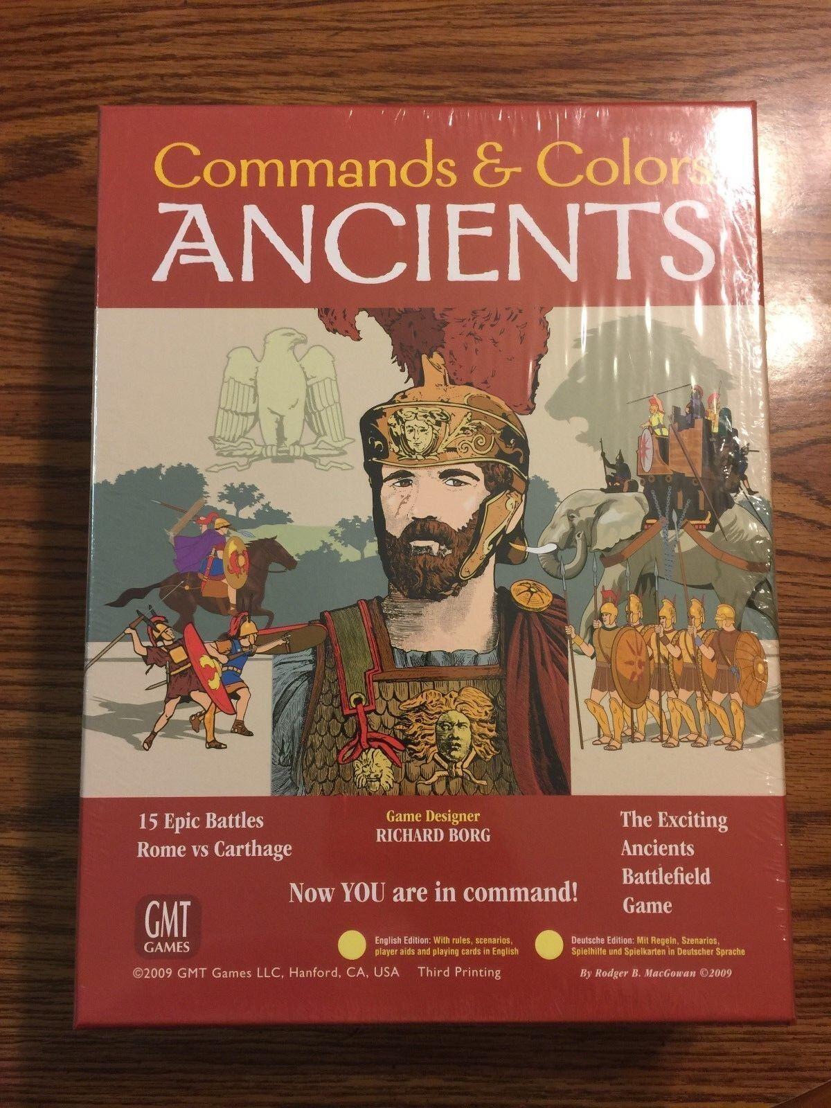 Les commandes & Couleurs Ancients-PSY Enveloppé-GMT Games