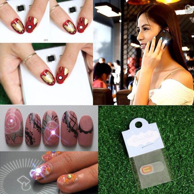 Christmas NFC Luck Nail Art Sticker LED Light Flash Phone Scintillation qr