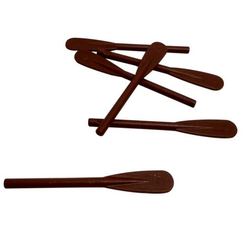 Paddle Reinforced Reddish Brown 6 NEW LEGO Minifigure Utensil Oar