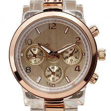 Luxury Brand Lady Girl Women Quartz Watch Bracelet Vintage Rose Gold Resin Band
