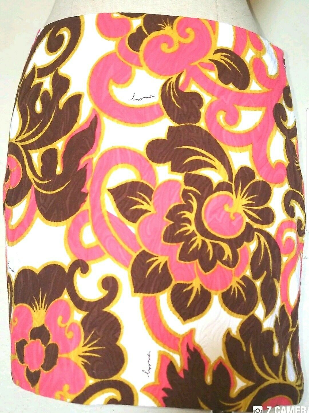 Milly Multicolord Mini Skirt Size 0 Very Cute