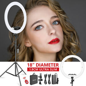 Neewer Kit 48cm LED Luz Anillo Regulable -1,8cm Ultra Delgado 3200-5600K